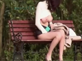 OLの野外仰天巨乳オナニー!! スレンダー巨乳お姉さんが公園でまさかのリモコンバイブの電話オナ!!